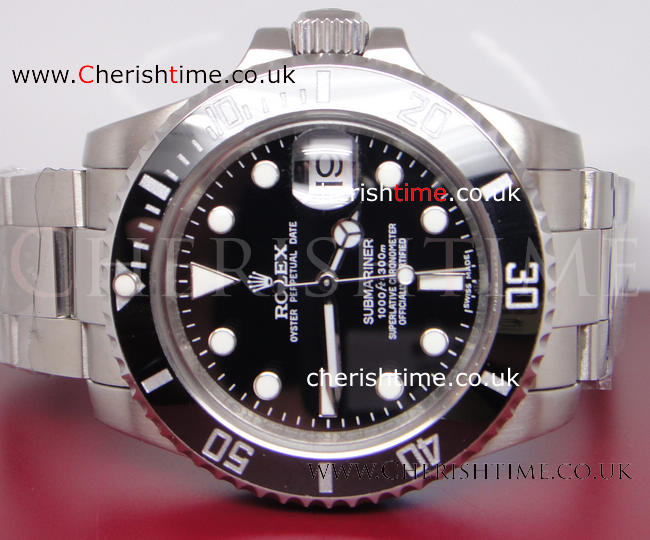Ceramic Bezel Rolex Submariner SS Black Dial Mens Watch